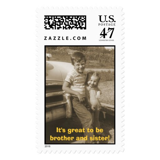 Ted and Bonnie Postage Stamp