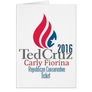 Ted Cruz 2016 Card