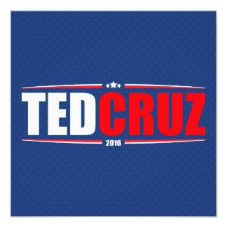 Ted Cruz 2016 (estrellas y rayas - azul) Impresiones Fotográficas