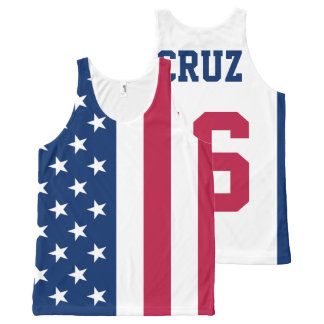 Ted Cruz 2016 for President American Flag All-Over-Print Tank Top