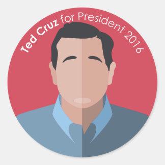 Ted Cruz 2016 for president custom sticker