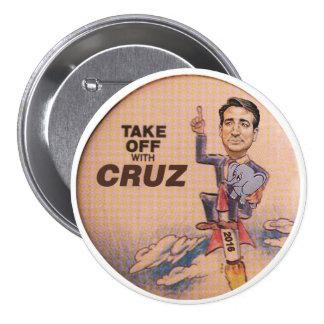 Ted Cruz 2016 Pin Redondo 7 Cm