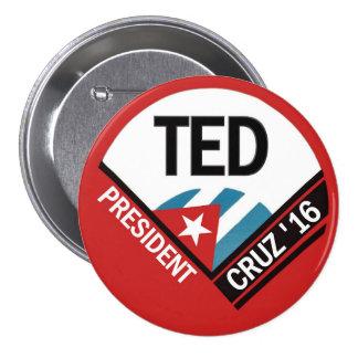 Ted Cruz 2016 Pin Redondo De 3 Pulgadas