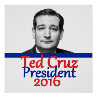Ted Cruz 2016 Póster