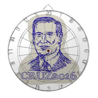 Ted Cruz 2016 President Drawing Dart Board