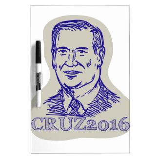 Ted Cruz 2016 President Drawing Dry Erase Board