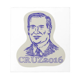 Ted Cruz 2016 President Drawing Notepad