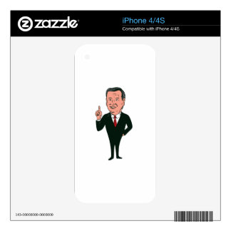 Ted Cruz 2016 Republican Candidate Skins For The iPhone 4S