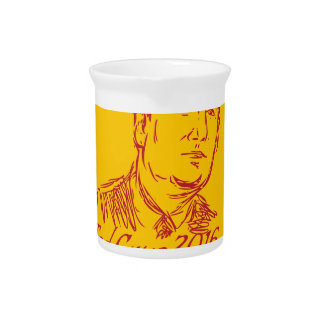 Ted Cruz 2016 Republican Drawing Drink Pitcher