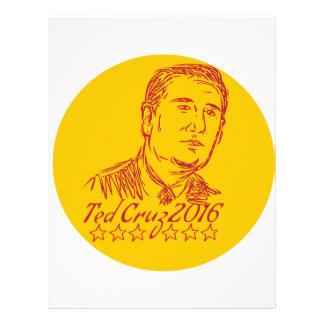 Ted Cruz 2016 Republican Drawing Letterhead