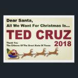 "Ted Cruz 2018 All I Want For Christmas Lawn Sign<br><div class=""desc"">Ted Cruz Senate 2018 popular yard sign. Dear Santa All We Want For Christmas Is Ted Cruz 2018.</div>"