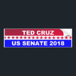 "Ted Cruz 2018 Senate bumper sticker<br><div class=""desc"">Ted Cruz 2018 Senate bumper sticker. Popular Best selling red white and Blue design for your favorite conservative.</div>"