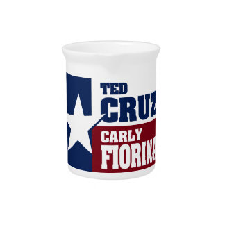 Ted Cruz and Carly Fiorina 2016 Beverage Pitcher