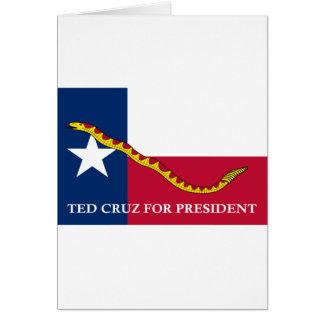 Ted Cruz for president Navy Jack Card