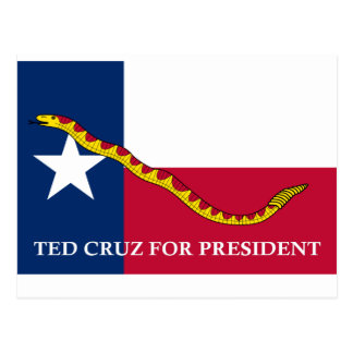 Ted Cruz for president Navy Jack Postcard