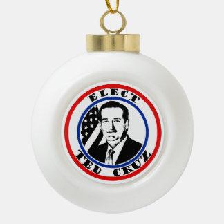 Ted Cruz For President Ceramic Ball Christmas Ornament