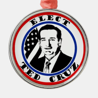 Ted Cruz For President Round Metal Christmas Ornament