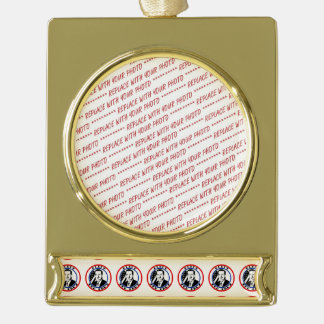 Ted Cruz For President Gold Plated Banner Ornament