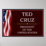 Ted Cruz for President V3 Poster