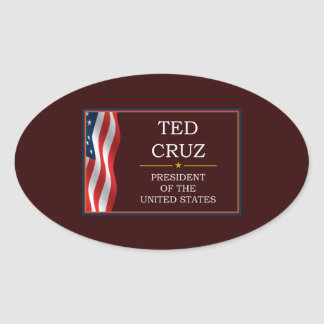 Ted Cruz for President V3 Oval Stickers