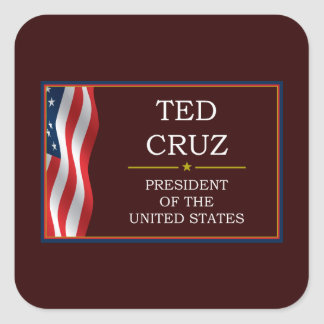 Ted Cruz for President V3 Square Stickers