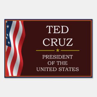 Ted Cruz for President V3 Yard Lawn Sign