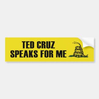 Ted Cruz habla para mí a la pegatina para el parac Etiqueta De Parachoque