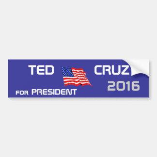 Ted Cruz para el presidente 2016 Pegatina De Parachoque