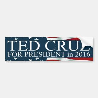 Ted Cruz para el presidente 2016 Pegatina Para Auto