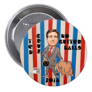 Ted Cruz para el presidente 2016 Pin Redondo 7 Cm