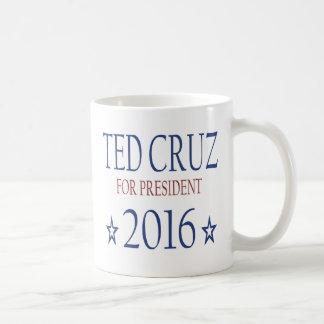 Ted Cruz para el presidente 2016 Taza Básica Blanca