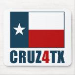 Ted Cruz para Tejas Cruz4TX Alfombrilla De Raton