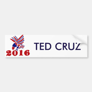 Ted Cruz Political Eagle Art Bumper Sticker