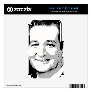 TED CRUZ PORTRAIT DECALS FOR iPod TOUCH 4G