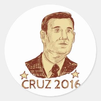 Ted Cruz President 2016 Drawing Classic Round Sticker