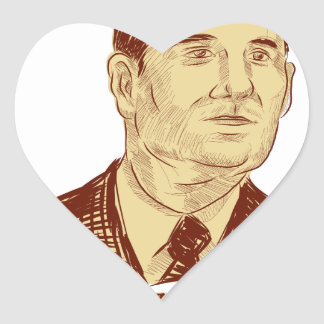Ted Cruz President 2016 Drawing Heart Sticker