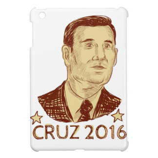 Ted Cruz President 2016 Drawing iPad Mini Case
