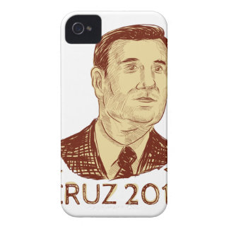 Ted Cruz President 2016 Drawing iPhone 4 Case
