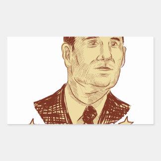 Ted Cruz President 2016 Drawing Rectangular Sticker