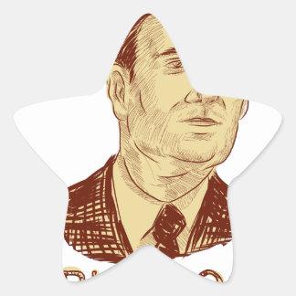 Ted Cruz President 2016 Drawing Star Sticker
