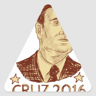 Ted Cruz President 2016 Drawing Triangle Sticker