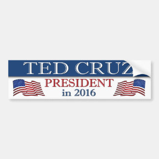 Ted Cruz President 2016 Patriotic Bumper Sticker