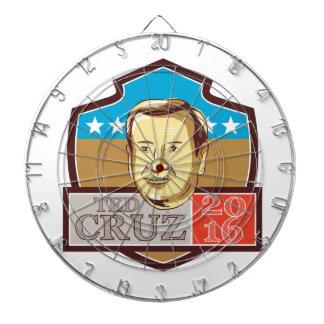 Ted Cruz President 2016 Republican Shield Dartboards