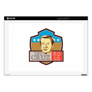 Ted Cruz President 2016 Republican Shield Decals For Laptops