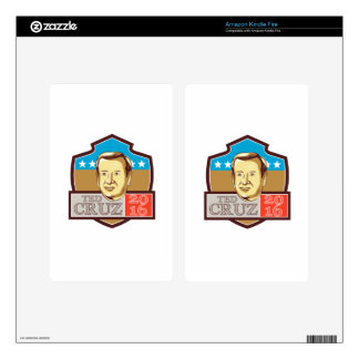 Ted Cruz President 2016 Republican Shield Kindle Fire Skin