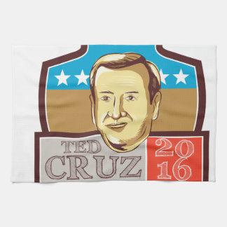 Ted Cruz President 2016 Republican Shield Towels