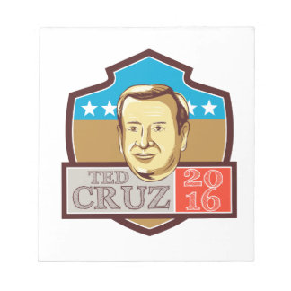 Ted Cruz President 2016 Republican Shield Notepad
