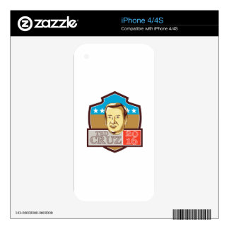 Ted Cruz President 2016 Republican Shield Skins For The iPhone 4