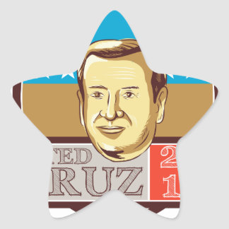 Ted Cruz President 2016 Republican Shield Star Sticker