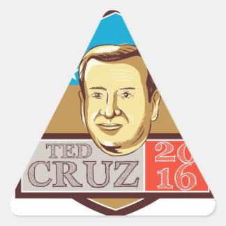 Ted Cruz President 2016 Republican Shield Triangle Sticker